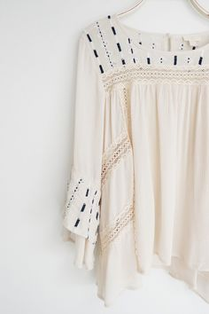 Embroidered Peasant Blouse | ROOLEE