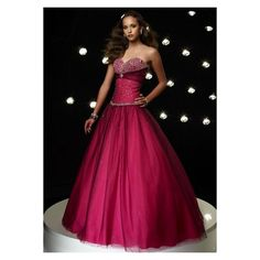 Prom Dresses - Tulle Beaded Strapless Sweetheart Neckline with Ball... (€155) ❤ liked on Polyvore featuring dresses, purple sweetheart dress, tulle dress, sweetheart prom dresses, purple tulle dress and tulle prom dresses