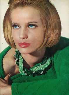 Green vintage fashion 1960s August Vogue 1963, Veruschka Photographed by Irving Penn