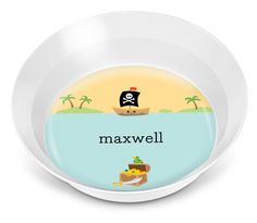 Pirate Children's Melamine Bowl