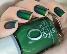 Beetle Inspired Nails: Orly - Enchanted Forest and Ludurana - Admirável