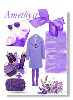 """Amethyst"" by nancykou1 on Polyvore featuring Carven, Chiara P, Thierry Mugler and Ray-Ban"