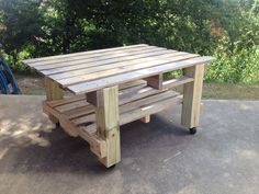 Coffee Table made from recycled industrial pallets