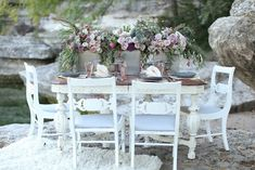 Romantic Outdoor Wedding Inspiration with Vintage Boho Elegance from Flora Fetish