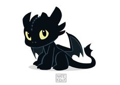 Wittle Toothless Print by artofnatekelly on Etsy