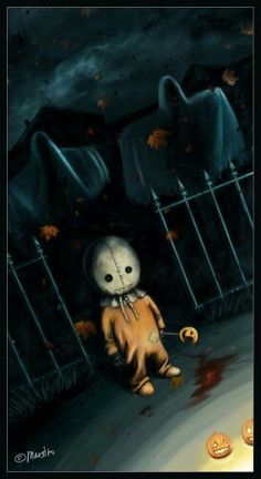 Trick r Treat von auf DeviantArt - Trick Or Treat - halloween art Retro Halloween, Photo Halloween, Halloween Prints, Halloween Pictures, Halloween Horror, Holidays Halloween, Happy Halloween, Halloween Decorations, Halloween Stuff