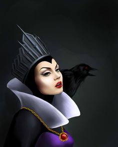 Evil Queen. Not to be confused with Malificent. So many people don't know the difference! Know your Disney villains!!