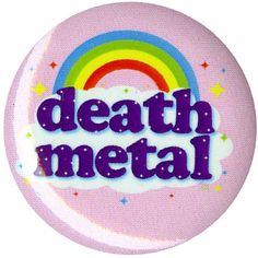 Rainbow Death Metal Pin Hot Topic (1.88 CAD) ❤ liked on Polyvore featuring jewelry, brooches, metal jewelry, rainbow jewelry, pin brooch, metal brooch and pin jewelry