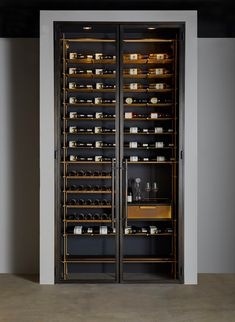 The Bronze Wine Room - Amuneal: Magnetic Shielding & Custom Fabrication Glass Wine Cellar, Wine Cellar Racks, Home Wine Cellars, Wine Cellar Design, Home Bar Rooms, Bar A Vin, Wine Rack Storage, Wine Tasting Room, Home Bar Designs