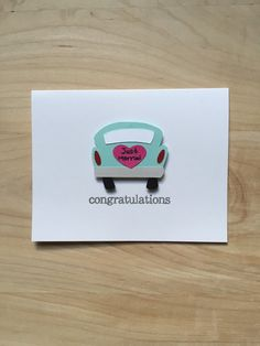 Hey, I found this really awesome Etsy listing at https://www.etsy.com/listing/240772237/wedding-congratulations-card-cute