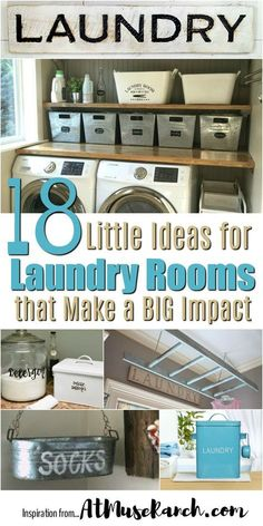 Ideas for Laundry Rooms -Wash days come and go (and come back again) but these ideas for laundry rooms will end the wash day doldrums clever decor and organization. room organization diy Little Ideas for Laundry Rooms that Make a Big Impact Laundry Room Shelves, Laundry Room Remodel, Farmhouse Laundry Room, Small Laundry Rooms, Laundry Room Organization, Laundry Room Design, Organization Ideas, Laundry Storage, Storage Ideas