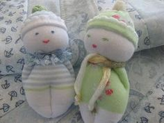 Sock Babies                   These little sock babies were shown to me by a friend at my craft group, we all had a go at making them, ...