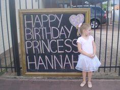 sign for outside the house for party - framed blackboard