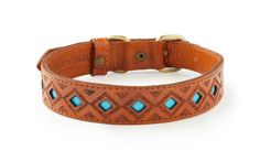 Pipeline - Hand Tooled Leather Dog Collar
