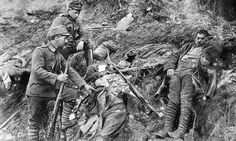 August 6, 1916 - Sixth Battle of the Isonzo Begins.  Pictured - Austrian soldiers inspect a couple of dead Italians.  The Italian army launched its Sixth Isonzo offensive on August 6, which would also be known as the Battle of Gorizia. Attacking with 22 divisions, this time the Italians met with success. By August 6, Gorizia itself was in Italian hands, giving them a bridgehead across the river.