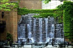 Heinz Hall Fountain- beautiful terrace outside the home of the Pittsburgh, Pennsylvania, Symphony Orchestra Backyard Pool Designs, Backyard Garden Design, Ponds Backyard, Backyard Waterfalls, Garden Ponds, Koi Ponds, Outdoor Wall Fountains, Garden Fountains, Water Fountains