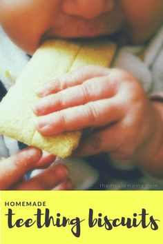 Teething stinks! Here is a great DIY homemade teething biscuit recipe for your little one using real food. Get the recipe NOW!