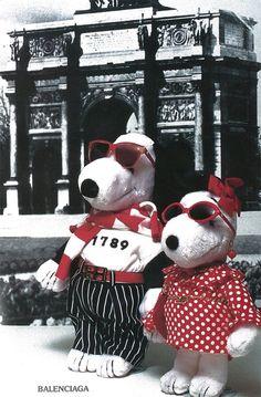 Snoopy dressed by Balenciaga