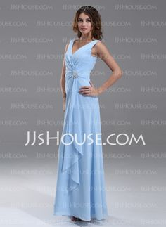 Bridesmaid Dresses - $113.99 - A-Line/Princess V-neck Floor-Length Chiffon  Charmeuse Bridesmaid Dresses With Ruffle (007004569) http://jjshouse.com/A-line-Princess-V-neck-Floor-length-Chiffon-Charmeuse-Bridesmaid-Dresses-With-Ruffle-007004569-g4569