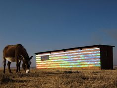 1,000 recycled CDs transform an abandoned farmhouse into a shimmering work of art