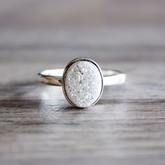 Oval Druzy Ring | Bohemian Jewelry | Indie and Harper