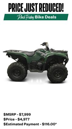 It's the perfect time to buy that ATV you've always wanted. 😍 ⌛ You won't find deals sweeter than this! Victory Motorcycles, Yamaha Motorcycles, Ducati Monster 1100, 2008 Harley Davidson, Dyna Wide Glide, Ultra Classic, Cyber Monday Deals, Suzuki Gsx, Atv