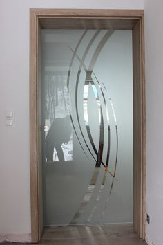 Glass Film Design, Window Glass Design, Frosted Glass Design, Frosted Glass Interior Doors, Frosted Glass Door, Glass Etching Designs, Etched Glass Door, Modern Exterior Doors, Back Painted Glass