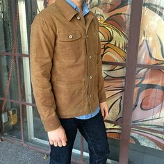 Chore Coat - Waxed Brown from GUSTIN. They have such excellent product at fantastic prices.