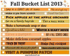 Fall Bucket List. Tim promised. :)
