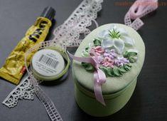 Практический урок по вышивке лентами - Делаем тычинки. Оформляем вышивку11