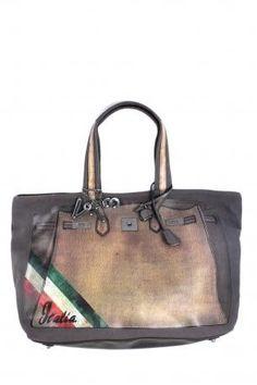 Brown leather Shopping bag V NjAJDT8