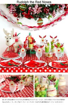 Kids Christmas party idea -Rudolph the Red Noses