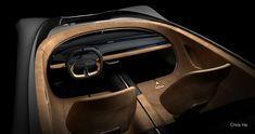GENESIS ESSENTIA, LA GRANTURISMO REINVENTATA - Auto&Design Car Interior Sketch, Car Interior Design, Interior Design Sketches, Truck Interior, Car Design Sketch, Interior Rendering, Interior Concept, Automotive Design, Bentley Interior