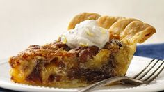 Looking for a tasty pie using Pillsbury® refrigerated pie crust? Then check out this great pecan and date pie.