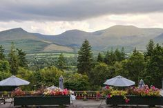 View of the Galtee Mountains taken from Aherlow House Hotel, Tipperary, Ireland