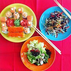 ЯпонскаЯ #кухня на #обед #еда #салат #роллы  #salad #rolls #japanesefood #food