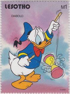 El Pato Donald jugando con el Diábolo Lesotho