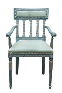 Swedish Upholstered Back Arm Chair