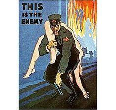 Póster de propaganda estadounidense después del sorpresivo ataque a Pearl Harbor.