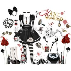 """☠ Malice in Wonderland"" by goth-dolly on Polyvore"