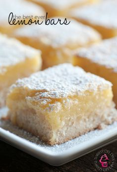 The Best Lemon Bars Recipe - http://thriftydiydiva.com/the-best-lemon-bars-recipe/
