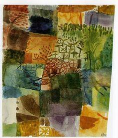 Paul Klee - Remembrance of a Garden, 1914, Watercolor on linen paper mounted on cardboard, 25,2 x 21,5 cm, Kunstsammlung Nordrhein-Westfalen (Dusseldorf)