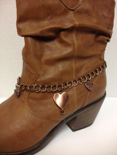 Boot chain made of Copper toned metal chain 3 by CalamityJaneEtsy