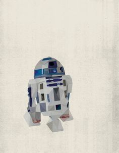 R2D2 Star Wars Poster Art Print Polygon Wall Decor by TheRetroInc -- also available as a pillow cover