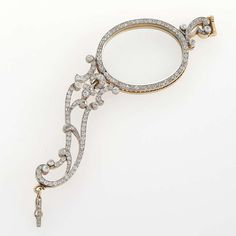 Art Nouveau Diamond, Platinum and Gold Lorgnette   From a unique collection of vintage more jewelry at http://www.1stdibs.com/jewelry/more-jewelry-watches/more-jewelry/