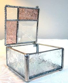 Stained Glass Jewelry Box Keepsake Treasure by shopworksofglass, $30.00