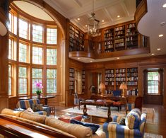 Federal Revival Residential Library.
