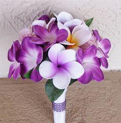 Natural Touch Purple & Lilac Plumerias Bouquet