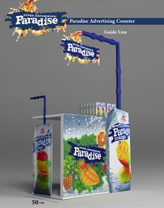 Paradise Drink 2d -3d Design on Behance