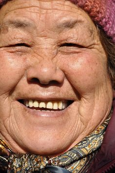 No matter the age,a smile is beauty